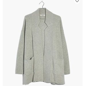 NWT Madewell Gray Spencer Sweater-Coat Size XL
